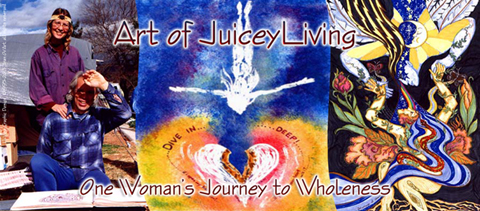 Art of JuiceyLiving Banner - Hi-Vibe Graphic & Art Desig