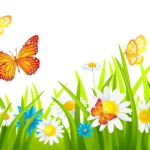 Grass_Ground_with_Flowers_and_Butterflies_PNG_Clipart