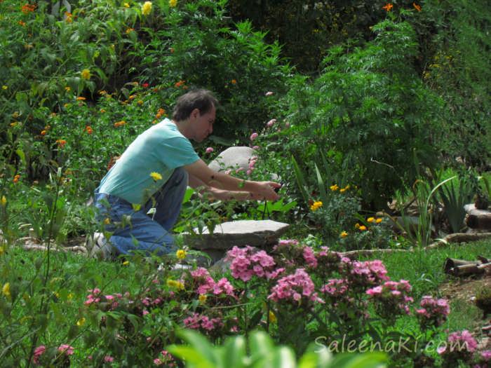 Marimar Hunting Butterflies in Belf Garden