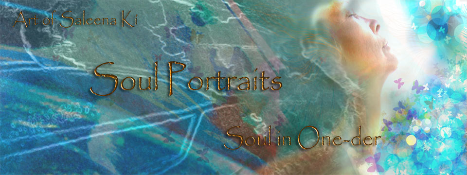 "Creative Artistic Expressions-Gallery Banner for Soul Portrait Gallery at saleenki.com. Art used is part of a Soul Portrait called ""be imaginal"" which is a soul portrait of an aspect of myself."